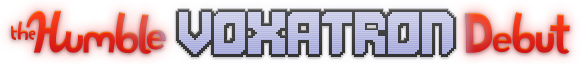 The Humble Voxatron Debut - logo
