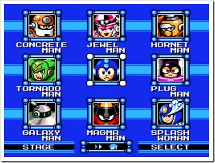 Mega Man 9 - stage select