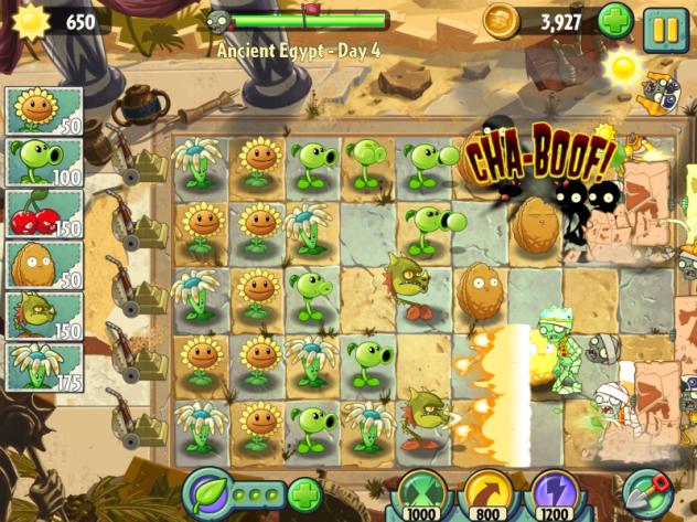 plants vs zombies 2 screen