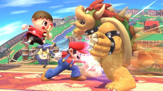 smash bros wii u gonad punch!