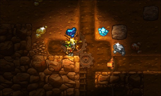 steamworld dig screenshot mining, baby