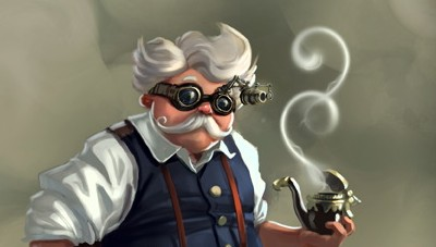 chronovolt professor steampunk