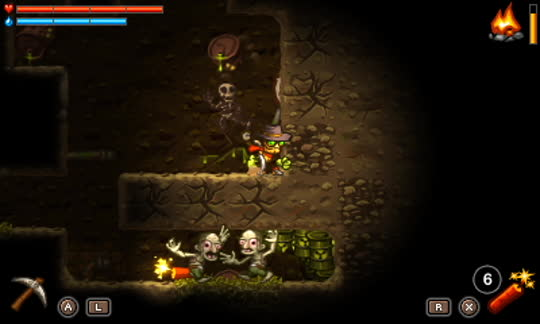 steamworld dig screenshot humans
