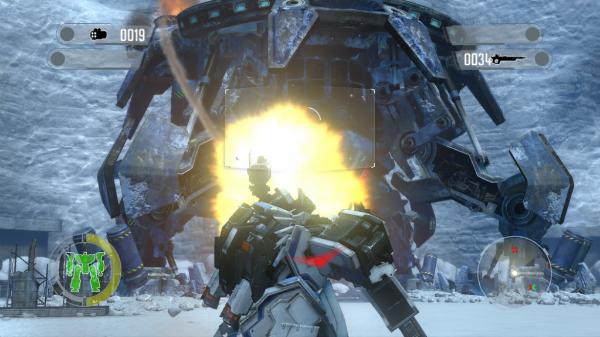 Front Mission Evolved boss battle