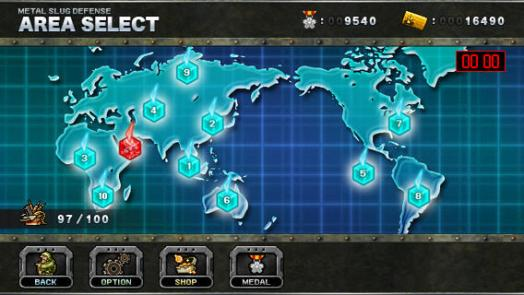 Metal Slug Defense world map