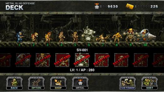 Metal Slug Defense deck