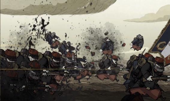 Valiant Hearts The Great War cutscene
