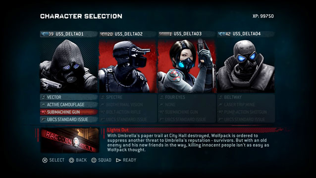 resident evil operation raccoon city campaign lobby