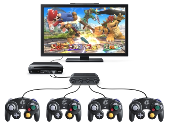Super smash bros 4 gamecube adapter setup
