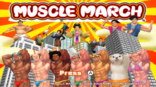 Muscle March title screen