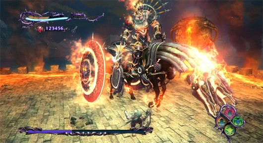 Knights Contract fire witch boss fight
