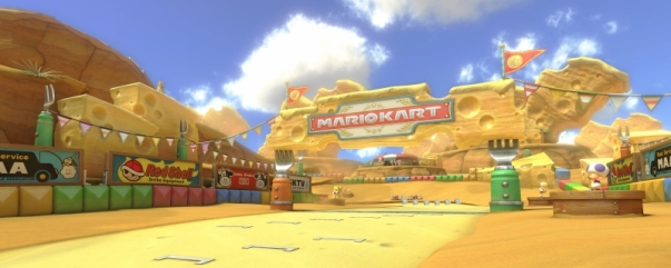 MK8 DLC course GBA Cheese Land
