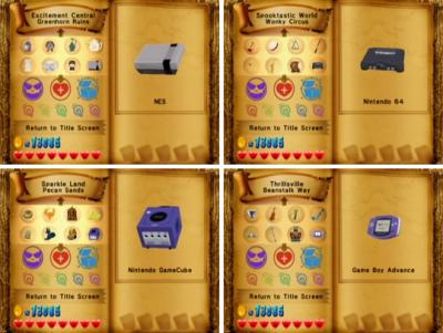 wario world treasure systems