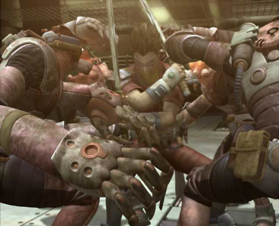 seven samurai 20XX cutscene