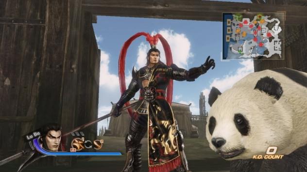 """Non trovo più l'immagine con orde di """"tigri volanti"""", quindi beccatevi Lu Bu ed un panda da cavalcare."""