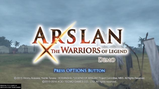 ARSLAN: THE WARRIORS OF LEGEND DEMO