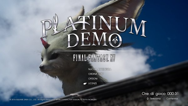 FF XV Platinum Demo