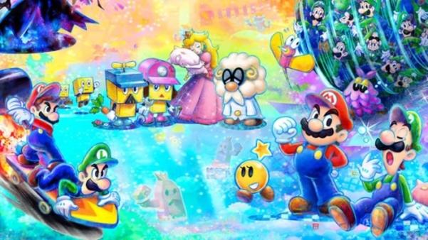 Mario e luigi dream team bros artwork