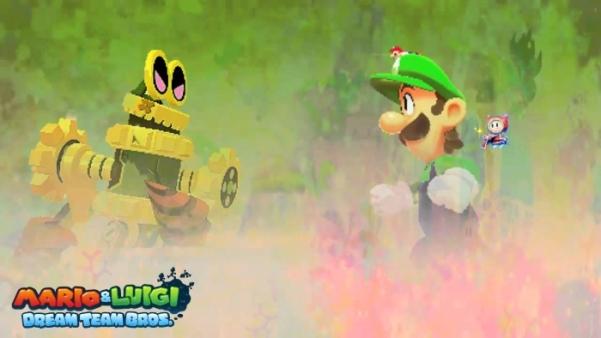 Mario e luigi dream team bros kajiu luigi
