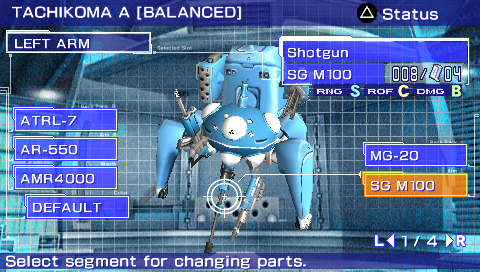 gits stand alone complex psp tachikoma customization