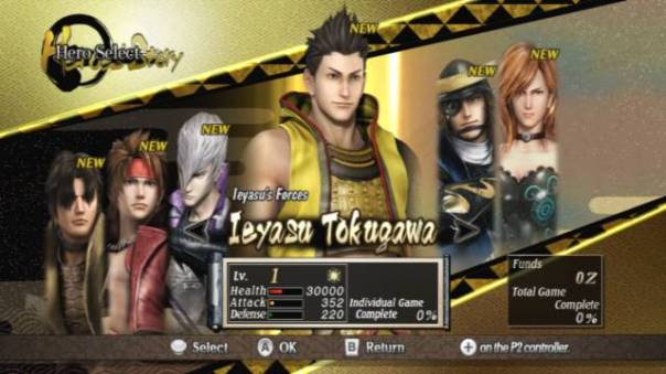sengoku basara samurai heroes character select