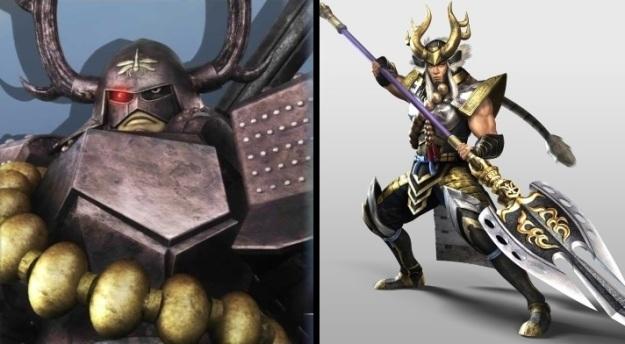 Tadakatsu Honda come appare in SB: Samurai Heroes e come in Samurai Warriors 4-II.