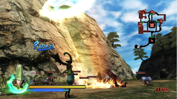 sengoku basara samurai heroes wii screenshot 2