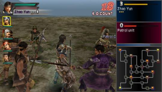 dynasty warriors psp screenshot 1