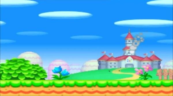 new super mario bros DS cutscene