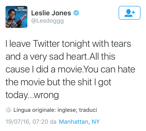 ghostbusters 2016 leslie jones twitter harassment