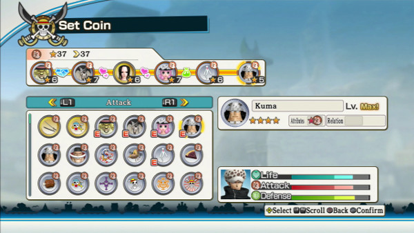 One Piece Pirate Warriors 2 coin system