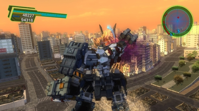 Earth Defense Force 4_1_ The Shadow of New Despair mecha punch