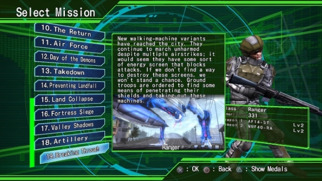 Earth Defense Force 4.1: The Shadow of New Despair missions