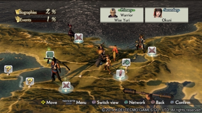 Samurai Warriors 4 chronicle mode map