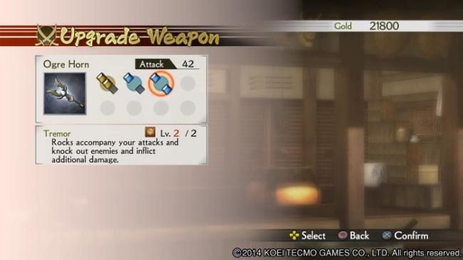Samurai Warriors 4 weapon forging