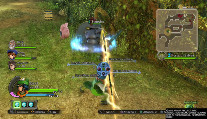 Dragon Quest Heroes combat and magic
