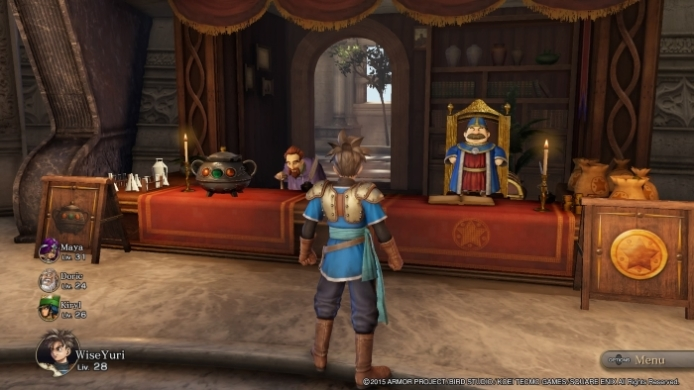Dragon Quest Heroes mission hub