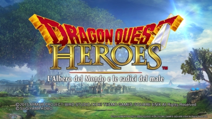 Dragon Quest Heroes The World Tree's Woe And The Blight Below title screen