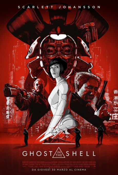 Ghost In The Shell 2017 locandina