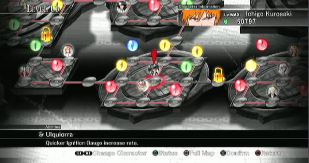 Bleach Soul Resurreccion PS3 level up grid
