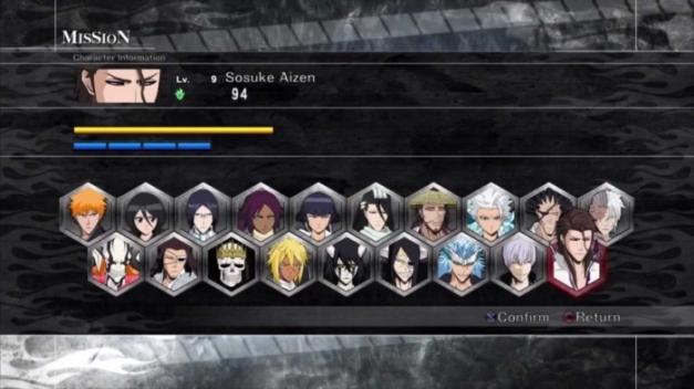 Bleach Soul Resurreccion PS3 the complete roster