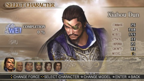 Dynasty Warriors Vol 2 character