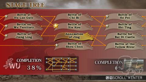 Dynasty Warriors Vol 2 stage tree