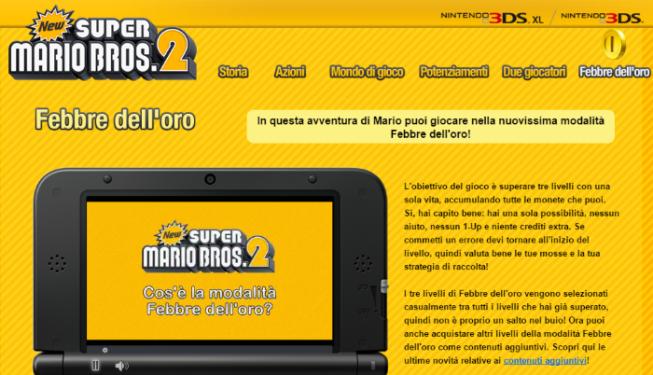 New Super Mario Bros 2 febbre dell'oro