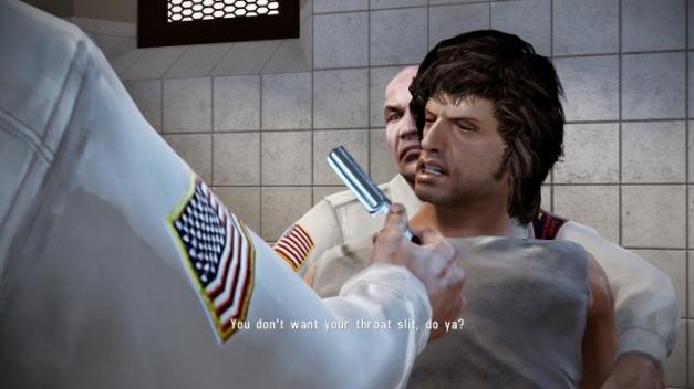 Rambo The Videogame PS3 prison cutscene