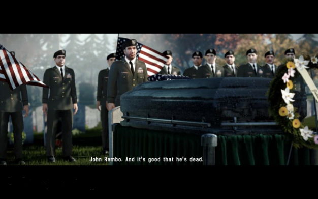 Rambo The Videogame PS3 rambo's funeral