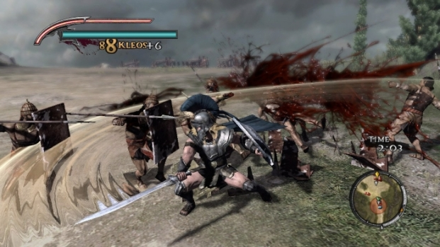 Warriors Legends Of Troy X360 blood packets abound