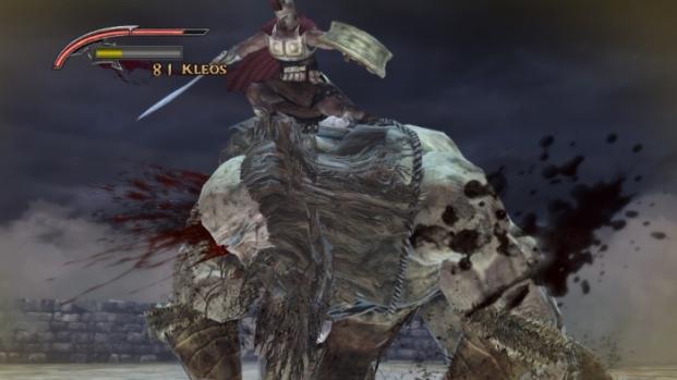 Warriors Legends Of Troy X360 giant boss fight
