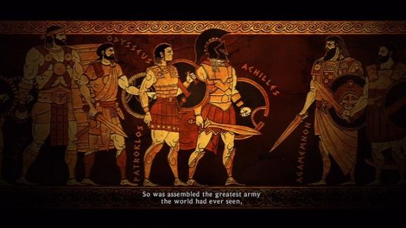 Warriors Legends Of Troy X360 greek vase narration