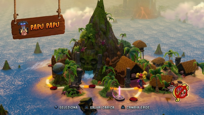 Crash Bandicoot N Sane Trilogy world map